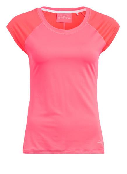 VENICE BEACH T-Shirt EVI mit Mesh-Einsätzen, Farbe: NEONPINK (Bild 1)