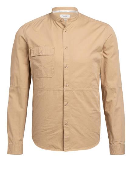 Marc O'Polo DENIM Hemd Regular Fit mit Stehkragen, Farbe: BEIGE (Bild 1)