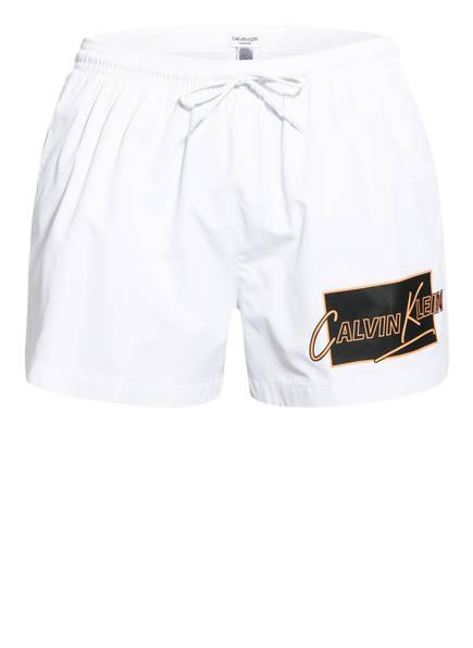 Calvin Klein Badeshorts , Farbe: WEISS (Bild 1)