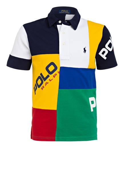 POLO RALPH LAUREN Piqué-Poloshirts, Farbe: GELB/ DUNKELBLAU/ WEISS (Bild 1)