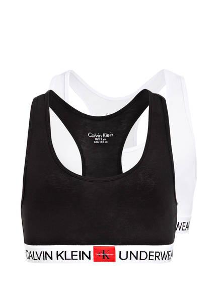 Calvin Klein 2er-Pack Bralette MINIGRAM , Farbe: SCHWARZ/ WEISS (Bild 1)