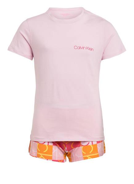 Calvin Klein Shorty-Schlafanzug MODERN COTTON , Farbe: ROSA/ PINK/ ORANGE (Bild 1)
