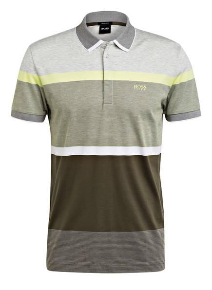 BOSS Jersey-Poloshirt PADDY Regular Fit, Farbe: GRÜN/ GRAU (Bild 1)