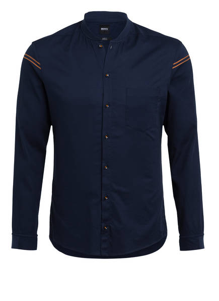 BOSS Hemd BELINDAS Slim Fit mit Stehkragen, Farbe: DUNKELBLAU (Bild 1)