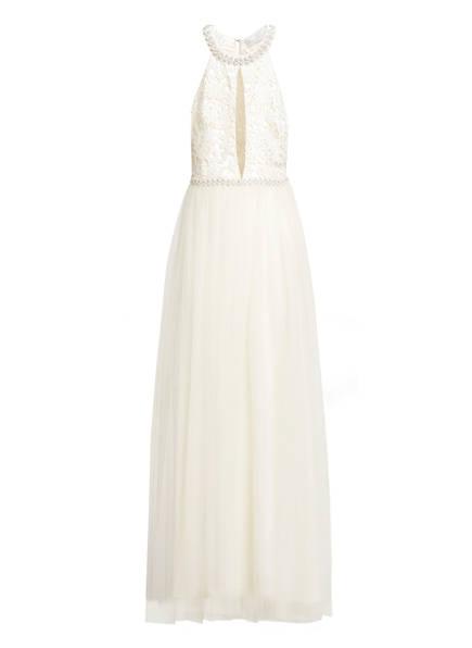 Young Couture by BARBARA SCHWARZER Abendkleid mit Schmuckperlenbesatz, Farbe: HELLGELB (Bild 1)