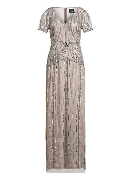 ADRIANNA PAPELL Abendkleid mit Paillettenbesatz, Farbe: GRAU (Bild 1)