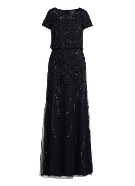 ADRIANNA PAPELL Abendkleid mit Pailletten- und Perlenbesatz, Farbe: DUNKELBLAU (Bild 1)