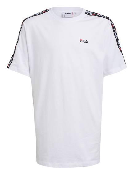 FILA T-Shirt mit Galonstreifen, Farbe: WEISS (Bild 1)