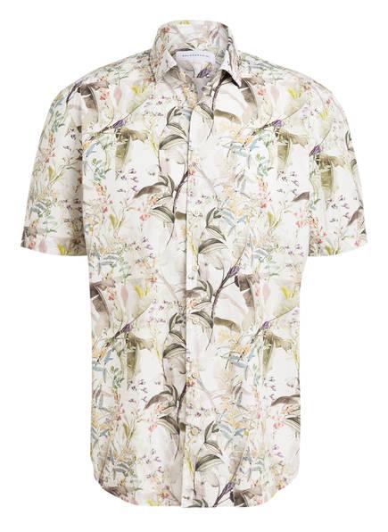 BALDESSARINI Halbarm-Hemd Regular Fit, Farbe: WEISS/ OLIV (Bild 1)