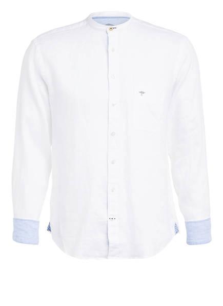 FYNCH-HATTON Leinenhemd mit Stehkragen Casual Fit, Farbe: WEISS (Bild 1)