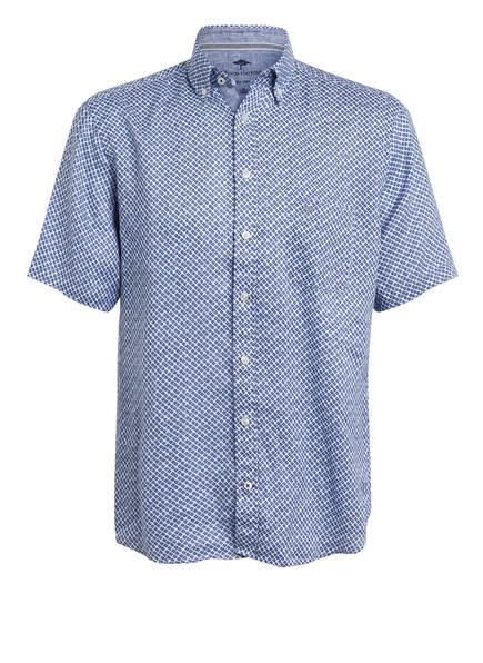 FYNCH-HATTON Halbarm-Hemd Slim Fit aus Leinen , Farbe: HELLBLAU/ DUNKELBLAU (Bild 1)