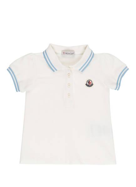 MONCLER enfant Piqué-Poloshirt, Farbe: WEISS (Bild 1)