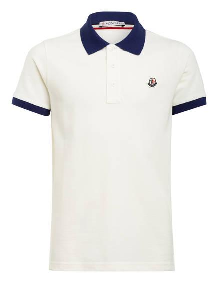 MONCLER enfant Piqué-Poloshirt, Farbe: ECRU/ DUNKELBLAU (Bild 1)