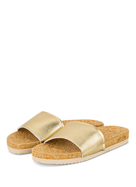 flip*flop Pantoletten POOL CORGI, Farbe: GOLD (Bild 1)