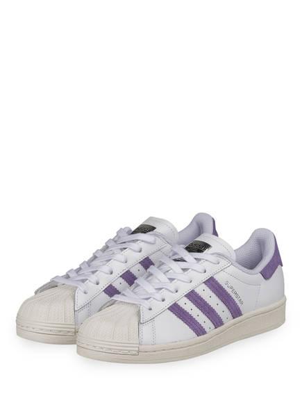 adidas Originals Sneaker SUPERSTAR, Farbe: WEISS/ LILA (Bild 1)