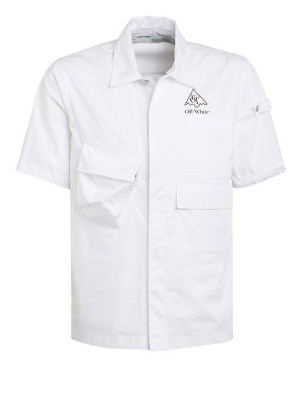 OFF-WHITE Halbarm-Hemd Comfort Fit, Farbe: WEISS/ SCHWARZ (Bild 1)
