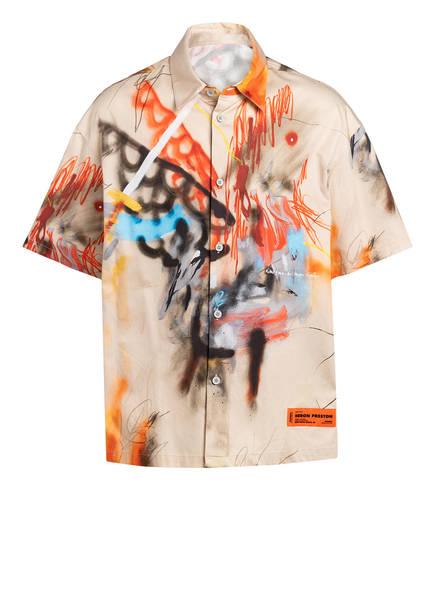 HERON PRESTON Halbarm-Hemd Comfort Fit, Farbe: BEIGE/ ROT/ HELLBLAU (Bild 1)
