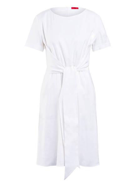HUGO Kleid KANINI mit Leinen, Farbe: WEISS (Bild 1)