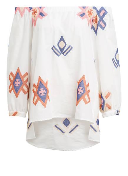 lilienfels Off-Shoulder-Bluse CARMEN mit Stickereien, Farbe: WEISS (Bild 1)