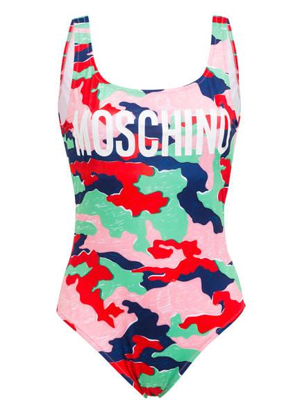 MOSCHINO Badeanzug, Farbe: GRÜN/ ROSÉ/ DUNKELBLAU (Bild 1)