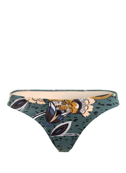 Skiny Sunset Glamour Bikini-Hose FLORES , Farbe: PETROL/ BEIGE/ WEISS (Bild 1)