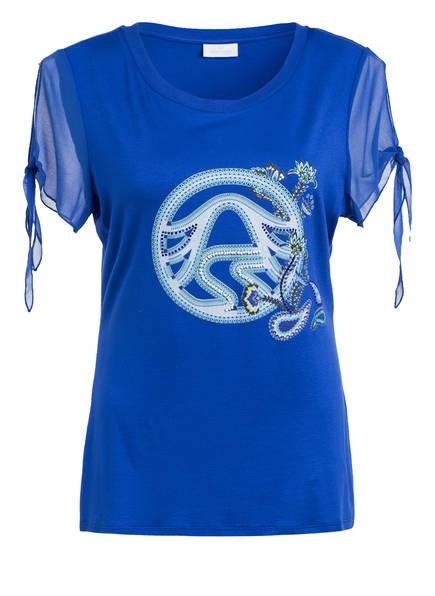 SPORTALM T-Shirt mit Schmucksteinbesatz, Farbe: BLAU (Bild 1)