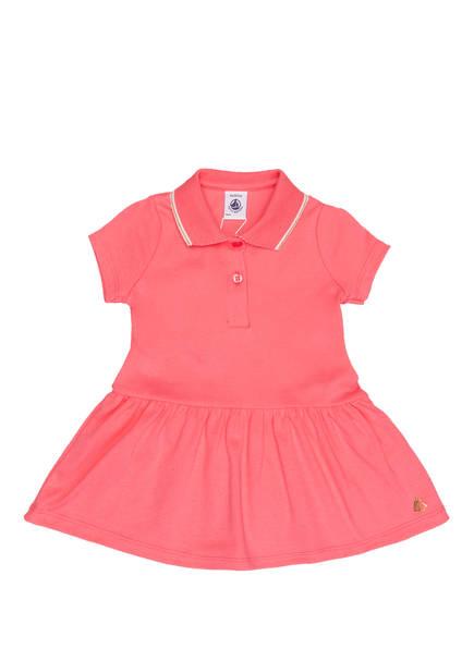 PETIT BATEAU Jersey-Polokleid mit Glitzergarn, Farbe: PINK (Bild 1)