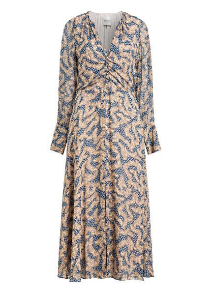SECOND FEMALE Kleid WILDLY , Farbe: CREME/ DUNKELBLAU (Bild 1)