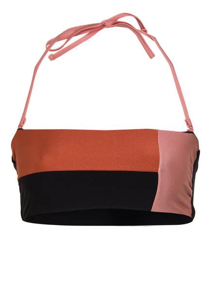 Barts Bustier-Bikini-Top LOURDES , Farbe: SCHWARZ/ BRAUN/ ROSE (Bild 1)