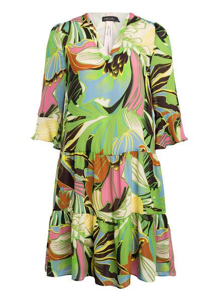 MARCCAIN Kleid mit 3/4-Arm und Volants, Farbe: 555 LEAF LINES (Bild 1)
