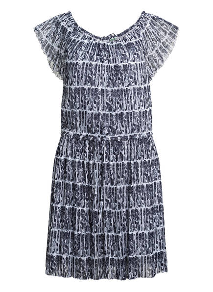 KENZO Plisseekleid, Farbe: WEISS/ DUNKELBLAU (Bild 1)