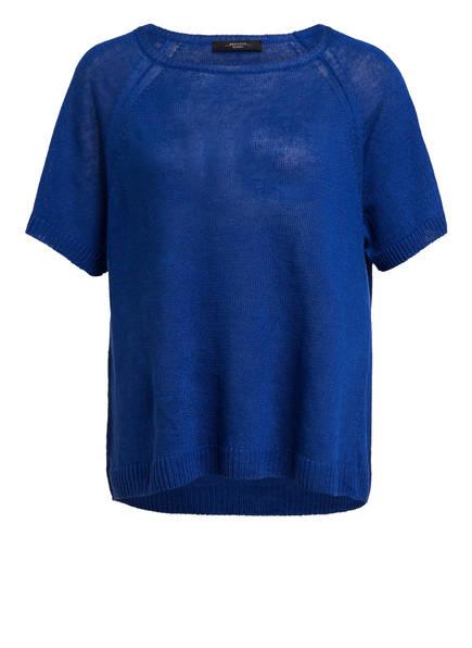 WEEKEND MaxMara Strickshirt aus Leinen, Farbe: BLAU (Bild 1)