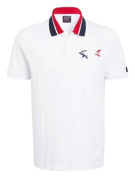 PAUL & SHARK Piqué-Poloshirt , Farbe: WEISS (Bild 1)