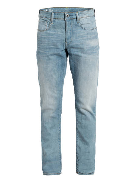 G-Star RAW Jeans 3301 Staight Tapered Fit, Farbe: B164 SUN FADED CYAN (Bild 1)