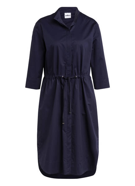 AIRFIELD Hemdblusenkleid mit 3/4-Arm , Farbe: DUNKELBLAU (Bild 1)