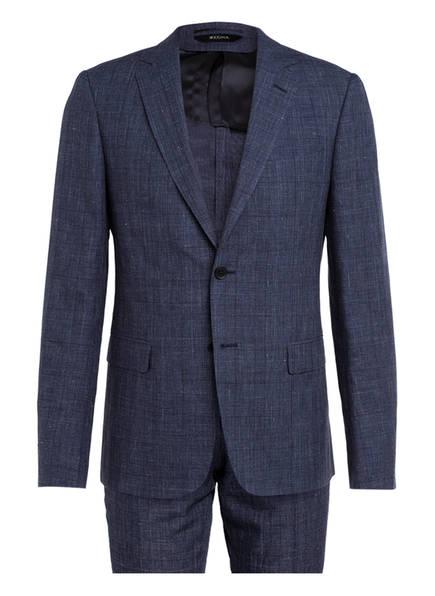 ZZegna Anzug DROP 8 Slim Fit mit Leinen, Farbe: BLAU (Bild 1)