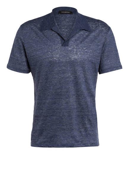 Ermenegildo Zegna Poloshirt aus Leinen, Farbe: BLAU (Bild 1)