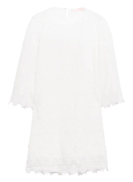 VALÉRIE KHALFON Kleid MAGGY mit Lochspitzenbesatz und 3/4-Arm, Farbe: WEISS (Bild 1)