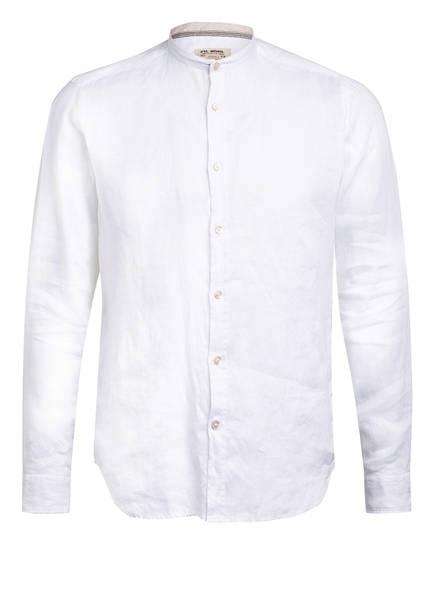 FIL NOIR Leinenhemd ANCONA Slim Fit mit Stehkragen, Farbe: WEISS (Bild 1)