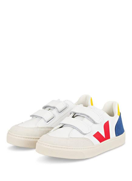 VEJA Sneaker V-12, Farbe: WEISS/ BLAU/ GELB (Bild 1)
