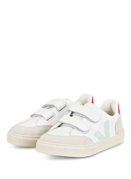 VEJA Sneaker V12, Farbe: WEISS/ HELLBLAU/ HELLGRAU (Bild 1)