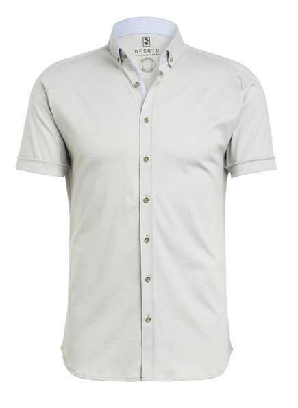 DESOTO Kurzarm-Hemd MODERN Slim Fit aus Jersey, Farbe: HELLOLIV (Bild 1)