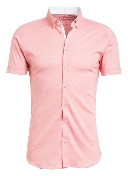 DESOTO Kurzarm-Hemd MODERN Slim Fit aus Jersey, Farbe: LACHS (Bild 1)