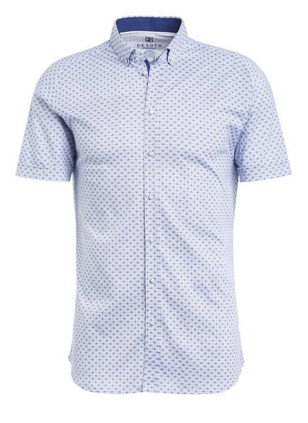 DESOTO Halbarm-Jerseyhemd Extra Slim Fit, Farbe: WEISS/ DUNKELBLAU (Bild 1)