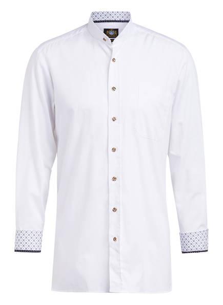 Hammerschmid Trachtenhemd Slim Fit mit Stehkragen, Farbe: WEISS (Bild 1)
