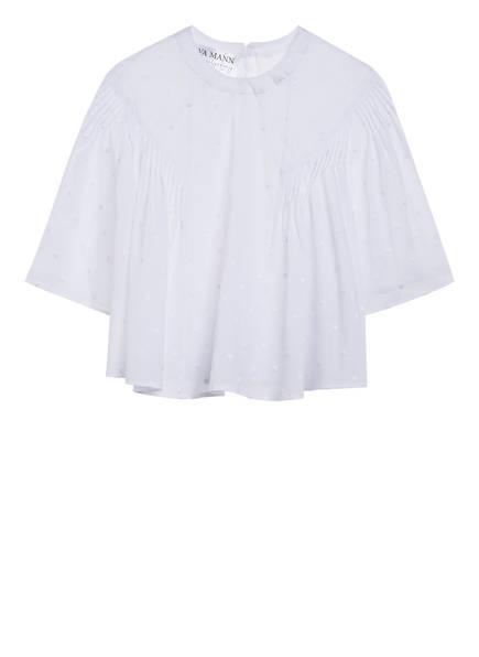 EVA MANN Blusenshirt ULRIKE mit verkürztem Arm, Farbe: WEISS (Bild 1)