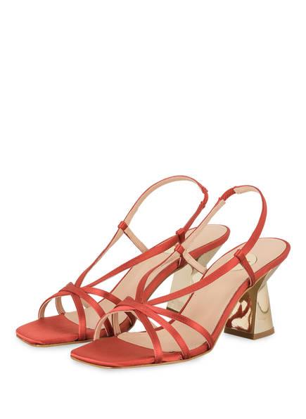 ras Sandaletten, Farbe: HELLROT (Bild 1)