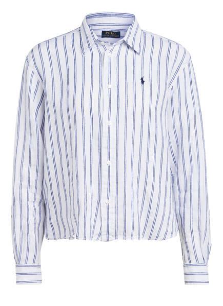 POLO RALPH LAUREN Hemdbluse aus Leinen , Farbe: WEISS/ BLAU (Bild 1)