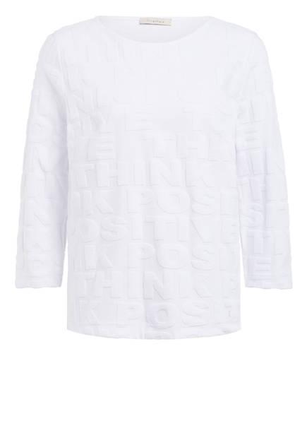 lilienfels Strickshirt mit 3/4-Arm und Schmucksteinbesatz, Farbe: WEISS (Bild 1)