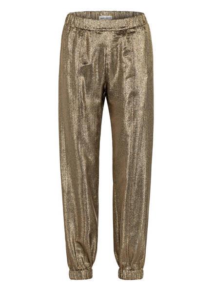 SAINT LAURENT Hose im Jogging-Stil mit Seide, Farbe: GOLD (Bild 1)